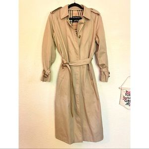 BURBERRY vintage trench coat classic belted long